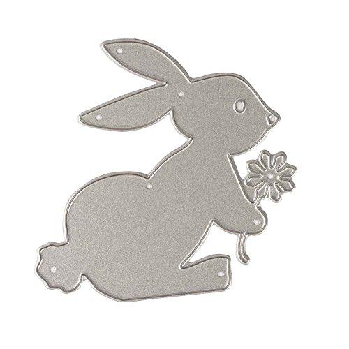 (Zeroyoyo Rabbit Flower Album Frame Metal Cutting Dies Stencil DIY Scrapbooking Template Decor Card Making Kids Children Educational Craft)
