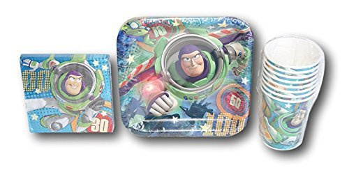 Toy Story Birthday Party Set - Plates, Napkins, (7' Square Dessert Plates)