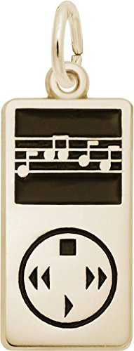 Player Charm Gold Plated (Rembrandt MP3 Player Charm - Metal - Gold-Plated Sterling Silver)