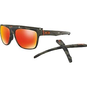 Oakley Mens Crossrange XL Sunglasses, Matte Olive Camo/Prizm Ruby, One Size