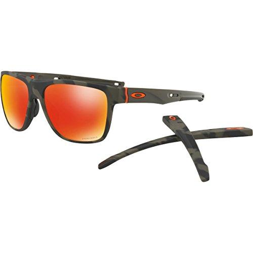 Oakley Mens Crossrange XL Sunglasses, Matte Olive Camo/Prizm Ruby, One - Sunglasses Oakley Camo