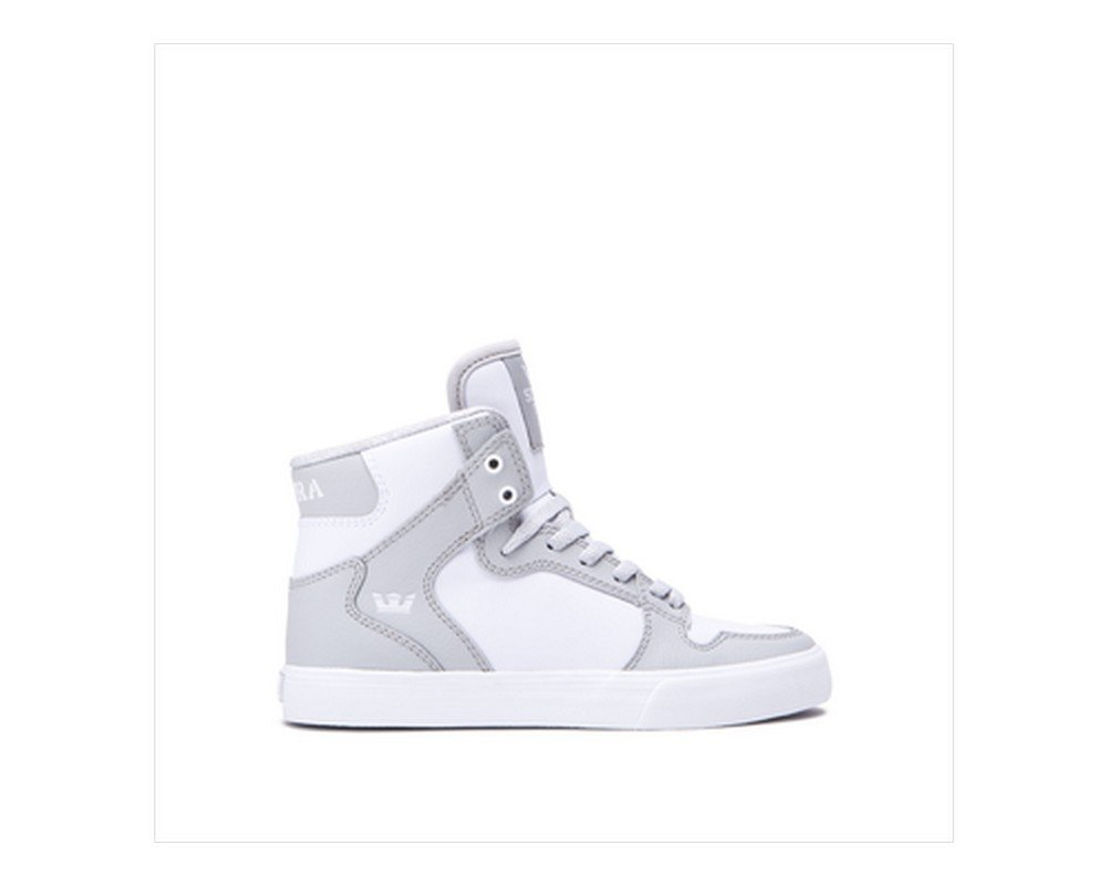Supra Mens Skytop III Shoes Light Grey - White