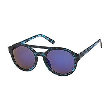 Sonnenbrille Panto Round Glasses Flat Top 400 UV bunt getigert verspiegelt rot c5GKNVtvE3