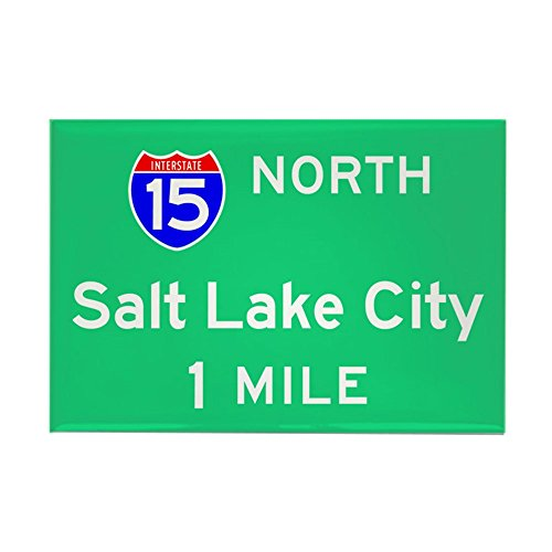 CafePress Salt Lake City UT, Interstate 15 North Rectangle M Rectangle Magnet, 2