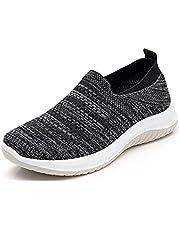 Ademende orthopedische instapschoenen voor dames, casual sport-loopschoenen, tennissneakers, gebreide antislip-sneakers