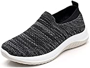 Women's Breathable Orthopedic Slip On Walking Shoes,Casual Sports Running Shoes, Tennis Sneakers,Knitted A