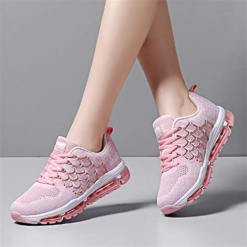 Running for Air Jogging 8 5 Absorbing Women Sport Size Fitness Multi Lightweight 4 Men Athletic Monrinda Trainers Sneakers Shock Pink Shoes qSztwxx1