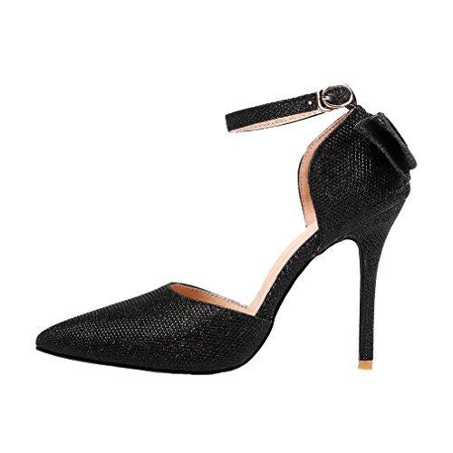 Nero YE cinturino con caviglia Donna alla Scarpe xqZBUwq6