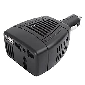 OXOX Alto Rendimiento de onda sinusoidal modificada de 75 vatios 12 voltios DC a 220 voltios AC Power Inverter con 5-Volt 0.5A