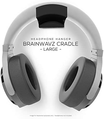 Brainwavz Cradle Large – 2PK – Headphone Hanger, Universal Stand for Sennheiser, Sony, Bose, Beats, AKG, Audio-Technica, Gaming Controller, Cables, Gamepad & Other Gaming Accessories 41shIi04EmL
