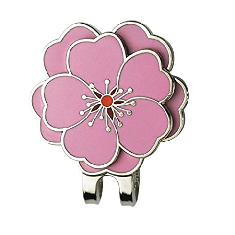PINMEI Flower Golf Ball Marker with Golf Hat Clip - Perfect Gift for Your Friend (Flower Clip) - Magnetic Ball Marker