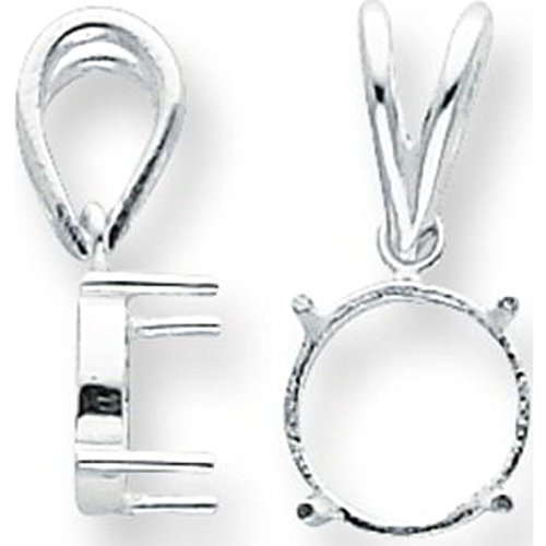 Cabochon 4 Prong - 6 Sterling Silver 4 Prong Round Cabochon Settings 3mm