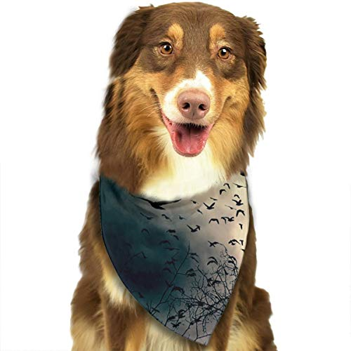Pet Scarf Dog Bandana Bibs Triangle Head Scarfs Dusk Nightfall Accessories for Cats Baby Puppy ()