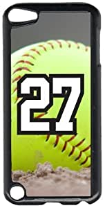 Softball Sports Fan Player Number 27 Black Plastic Decorative iPod iTouch 5th Generation Case