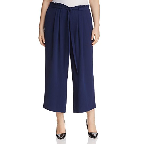 Michael Size Plus Kors Jeans (Michael Kors Womens Plus Crepe Pleated Gaucho Pants Navy 2X)