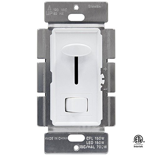 Xtricity Dimmer Switch for Dimmable LED, CFL, Halogen, 700 Watt Max, 120 volts - 60HZ, 3 way or Single Pole, White Cover, (Pack of 1)