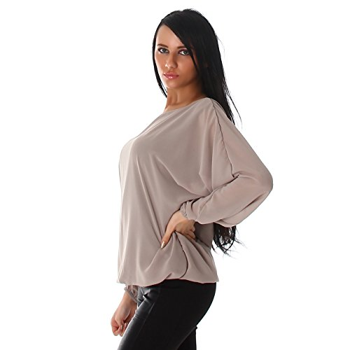 Unbekannt - Camiseta sin mangas - Túnica - Básico - para mujer Latte Macchiatto