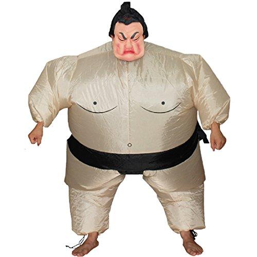 Unisex Inflatable Wrestler Sumo Suit Funny Adult Blow Up Costume Halloween Fun (Big Inflatable Suit)