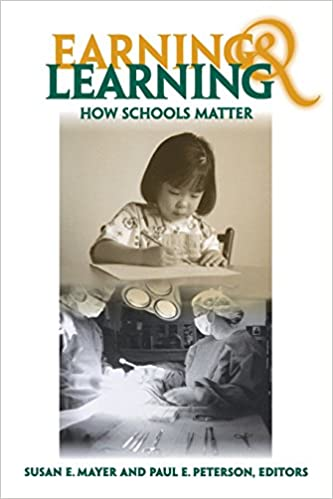 Book Earning and Learning: How Schools Matter