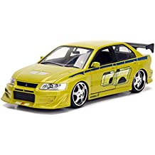 Jada Toys Fast & Furious Brian's Mitsubishi Lancer Evolution VII Metals Die-Cast Collectible Toy Model Car, Lime Green, 1:24 Scale