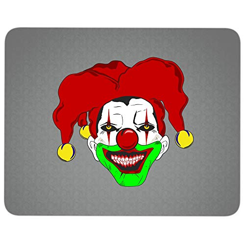 Halloween Gift Premium-Textured Mouse pad, Clown Face Mug, Scary Clown Mouse Pad for Home, Office, Game, Computer, Laptop (Mouse Pad - Dark Gray)