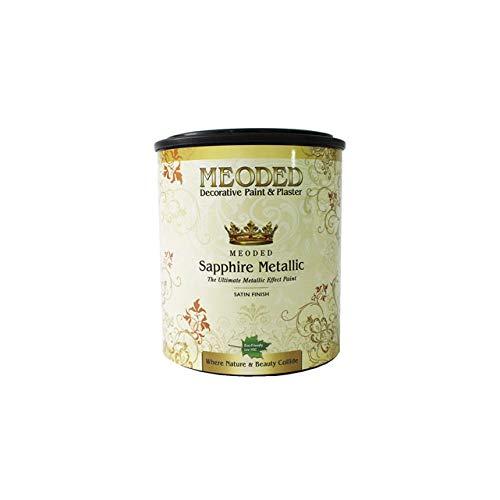 Meoded Paint and Plaster | Sapphire Metallic Paint | SM 9000 Antique Gold Metallic Wall Paint | Metal Paint | 1 Quart
