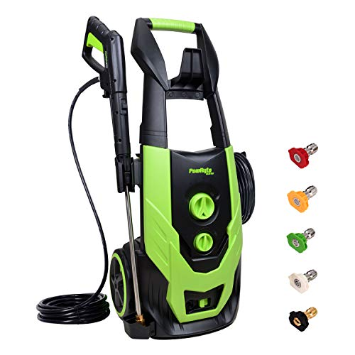 PowRyte Elite 2300 PSI 1.90 GPM Electric Pressure Washer, Electric Power Washer with 5 Quick-Connect Spray Tips and Onboard Detergent Tank