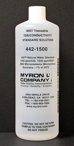 Myron L Company 1500ppm, Calibration Solution, Quart
