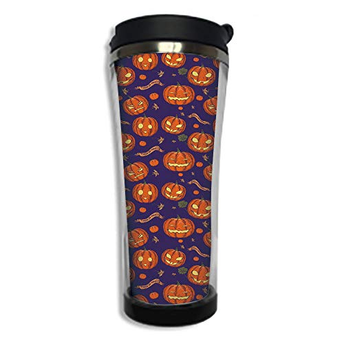 Travel Coffee Mug 3D Printed Portable Vacuum Cup,Insulated
