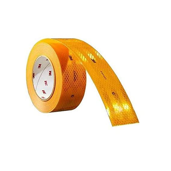 AutoVision 3m High Intensity Reflective Conspicuity Tape, 2 inch Width x 24 Feet, Yellow