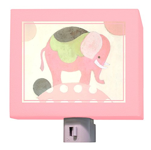 Oopsy Daisy Ella Elephant Night Light, Pink, 5