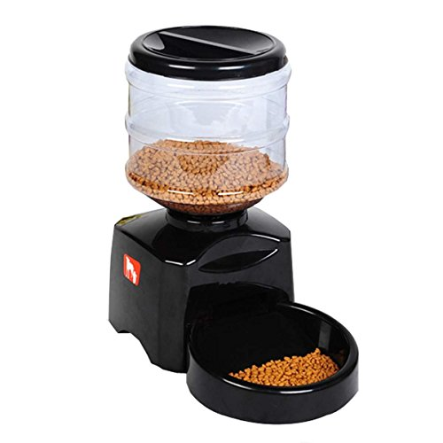 YK Automatic Cat Feeder Electric Pet Dry Food Container with Portion Control and LCD Display for Dogs Cats by YK