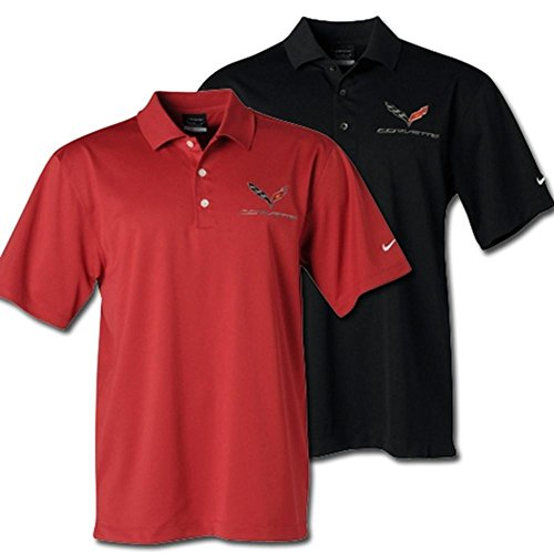 - Nike C7 Corvette Polo - Men's Dri Fit Performance Polo : Red Or Black (Red, XX-Large)