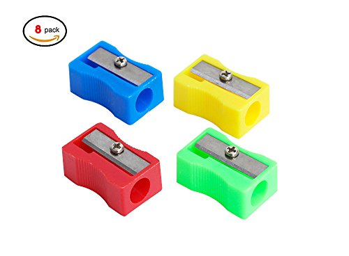 Kids Pencil Sharpener -Random Color Plastic Manual Pencil Sharpener- Small and Durable - Kid Friendly - Artist , Students , and Professionals (style 5) (Professional Single Style)