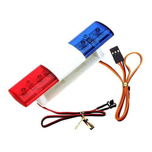 LAFEINA RC Model LED Police Night Flash Light Lamp for 1/10 1/8 RC HSP Traxxas TAMIYA CC01 4WD Axial SCX10 Model Car