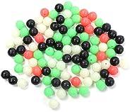 400pcs Fishing Beads 10mm/12mm Luminous Fishing Bead Mixture Colour Round Luminous Lure Soft Bait Accessory