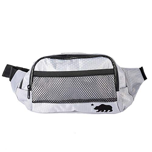 Cali Crusher 100% Smell Proof Fanny Pack w/Combo Lock (Gray)
