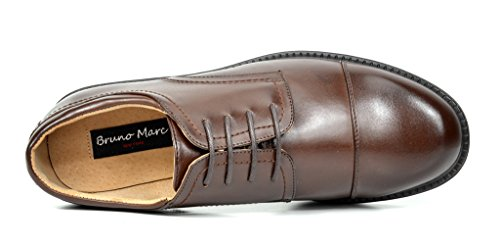 Bruno Marc Men's Downing-01 Dark Brown Leather Lined Dress Oxfords Shoes Size 9.5 M US