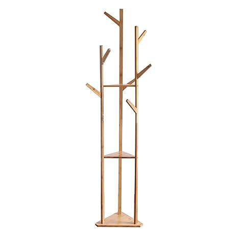 Perchero, Estante de bambú, Perchero, sombrilla, Perchero ...