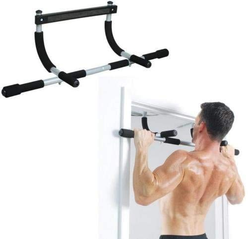 Adjustable 26 to 39 Inches Length Quick Setup Chin Up Bar with No Screws for Home Workout and Exercise Training Door Mounted Pullup Bar Pull Up Bar for Doorway