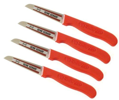 Schälmesser 4 Stück RÖR # 10121 Kartoffelschälmesser sehr scharf Küchenmesser Messer