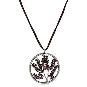 ZMC Women's Wooden Pendant Necklace