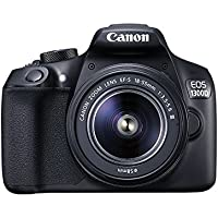 Canon EOS 1300D / T6 DSLR Camera With EF-S18-55 DC III F3.5-5.6 Lens - Black (International Version No Warranty)