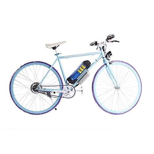 ELECTRIC Fixie Bike 350W 33MPH Alien Motor Wheels TM. (BLUE/PURPLE/BLUE/BLUE)