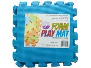 9-Tile Exercise Solid Foam Interlocking Playmat Kids Safety Play (Interlocking Foam Playmats)