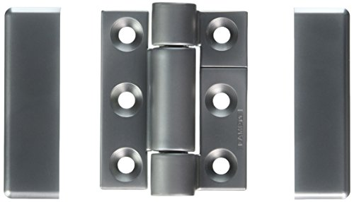 Sugatsune SK-T-ZA-2SCR Stainless Steel 304 Torque Hinge, Polished Finish, 5mm Leaf Thickness, 50mm Open Width, 15mm Pin Diameter, 65mm Height, 17 lbs inch Torque by LAMP by Sugatsune