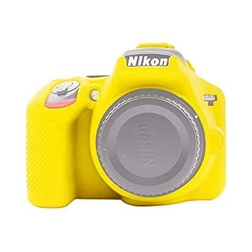 Funda de Silicona Suave para Nikon D3500 de CM PULUZ, Color Negro ...