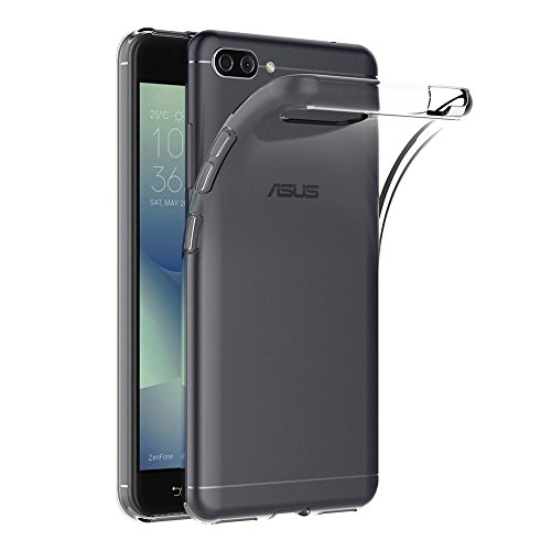 OEAGO ASUS ZenFone Max Plus (ZB570) Case, [Ultra Slim Thin] with Soft Feel Flexible and Easy Grip Gel Premium TPU Rubber Silicone Skin Cover Back for ASUS ZenFone Max Plus (ZB570) Phone - Clear