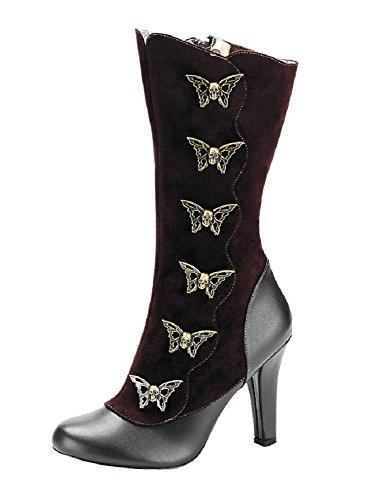 107 Steampunk Tesla 36 Gothique Femmes Bottes 43 Demonia Chaussures gxwRq