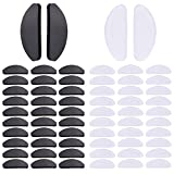 Witkey Soft Eyeglasses Nose Pads Glasses Adhesive Thin Nosepads Silicone Anti-Slip for Sunglasses, Reading Glasses (Transparent and Black)